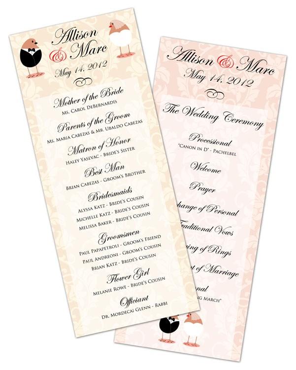 Wedding Program Card Flat - 35x85 - 5204008 TradeNet