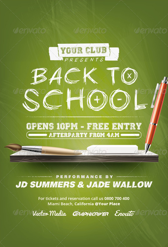 Back to School - Flyer by VectorMedia GraphicRiver - back to school flyers