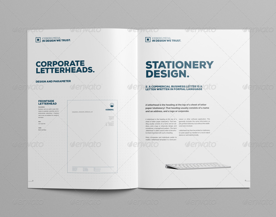Elite Corporate Design Manual Guide - 24 Pages by egotype GraphicRiver - manual design templates