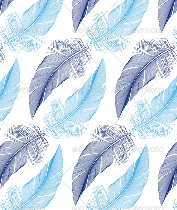 Cute Tribal Print Wallpaper Feather Seamless Pattern Vector By Amourfou Graphicriver