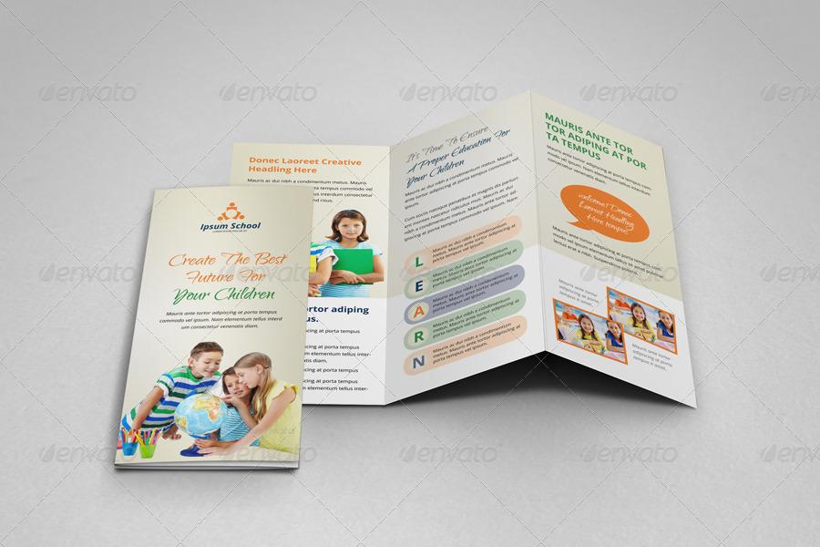 Education School Trifold Brochure Template by JanySultana GraphicRiver