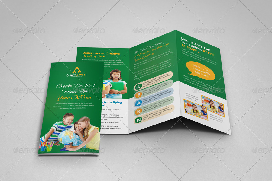 Education School Trifold Brochure Template by JanySultana GraphicRiver
