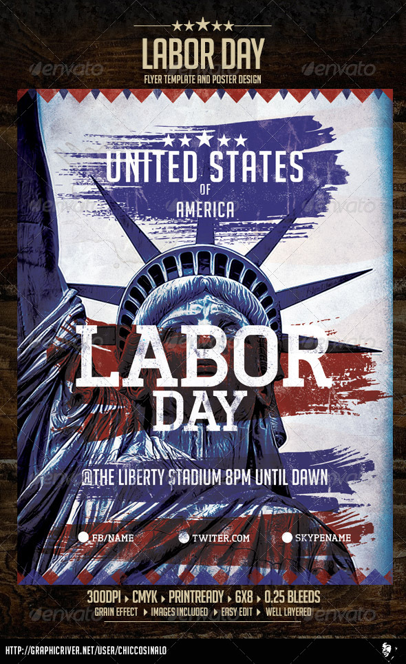Labor Day Event Flyer Templates from GraphicRiver (Page 4) - labour day flyer template