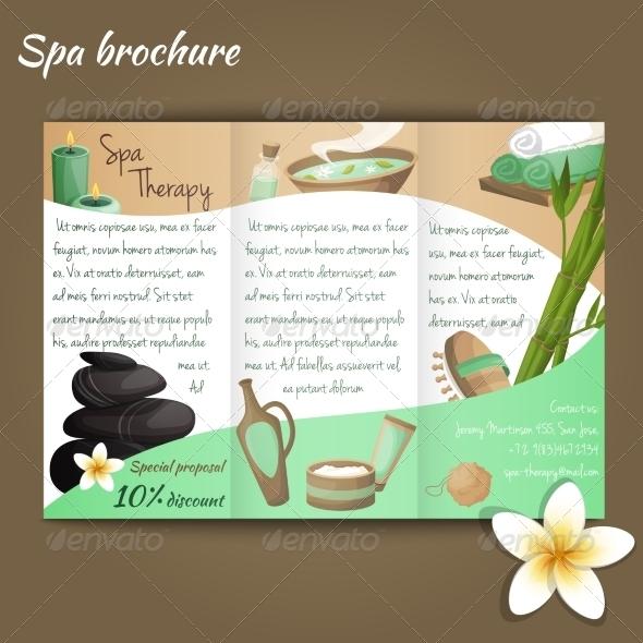 Spa Salon Brochure by macrovector GraphicRiver