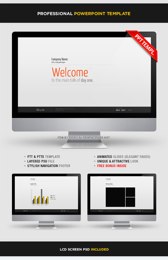 Professional Template With Footer by Royks GraphicRiver