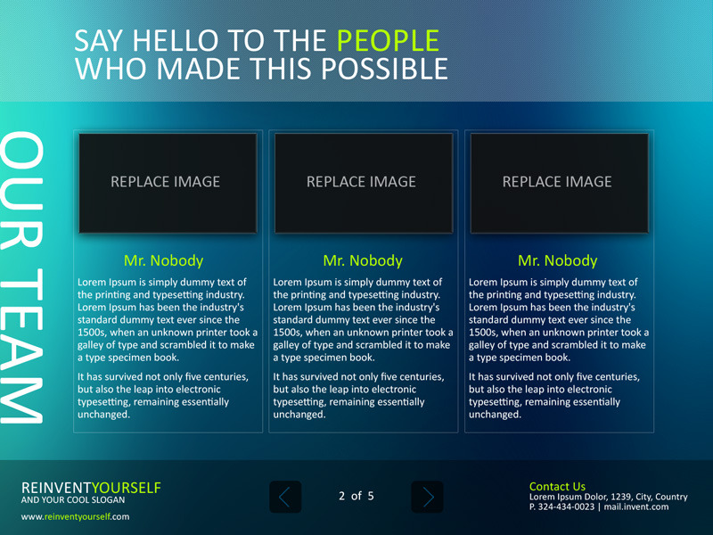 Reinvent Yourself Powerpoint Template by Artorius GraphicRiver