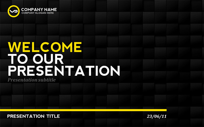 Mockup Free Flyer Black & Yellow Presentation Template By Erigonn | Graphicriver