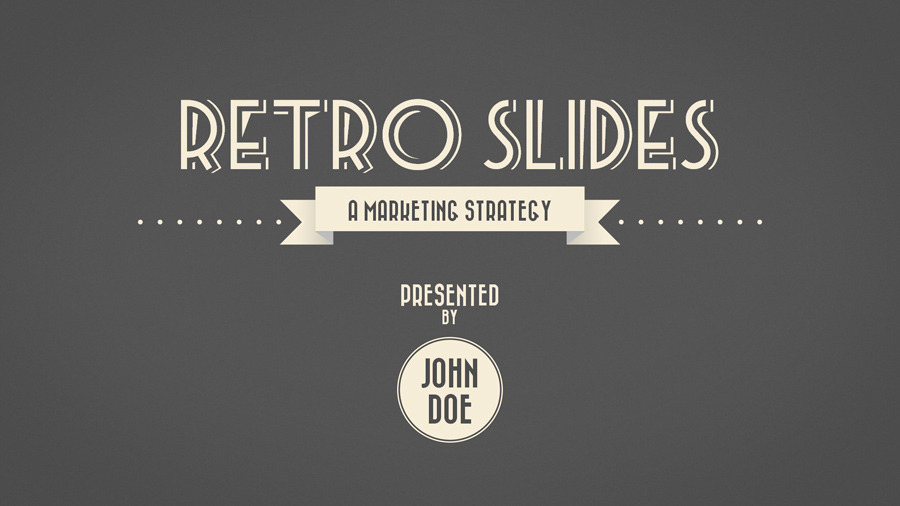 Retro Slides - PowerPoint Template (Widescreen) by opendept