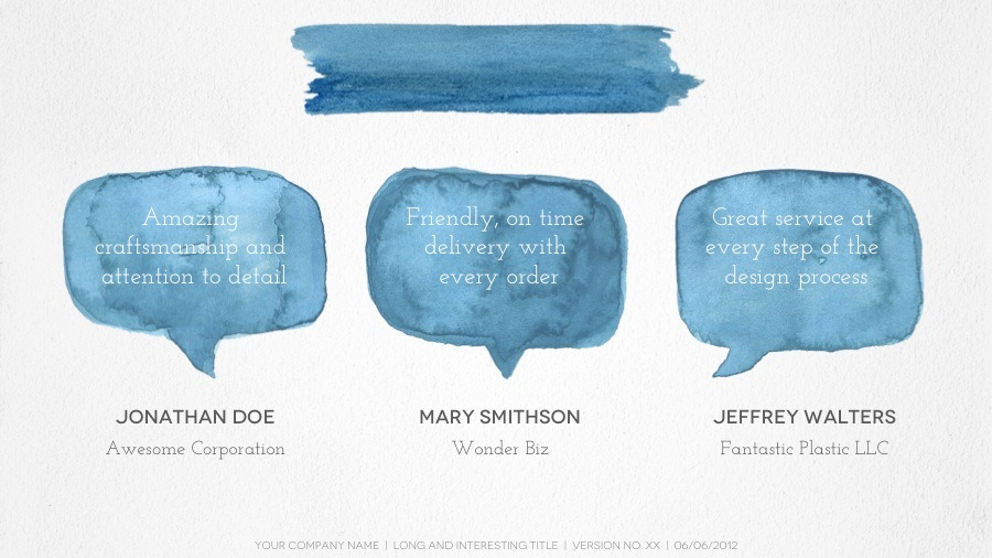 Watercolor Powerpoint Template by 83MUNKIS GraphicRiver