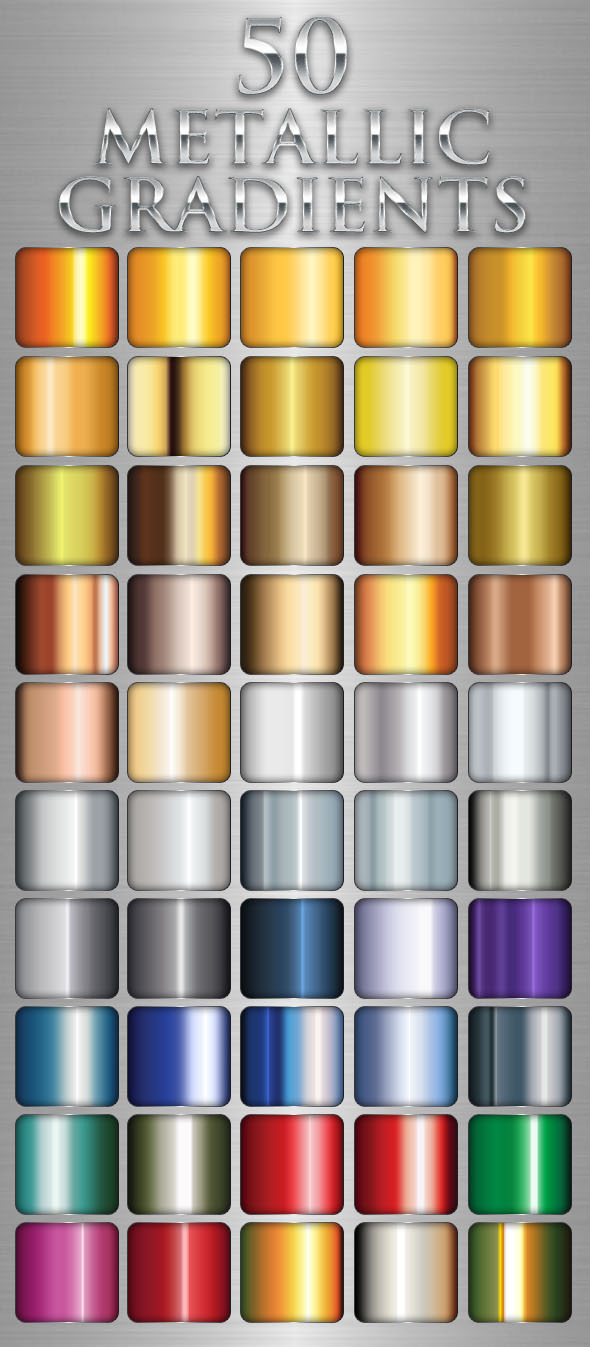 Design Your Own Home Software Free Download 50 Metallic Gradients By Villagegraphics | Graphicriver