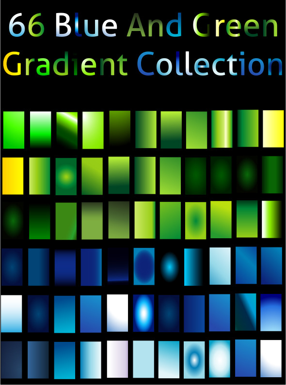 Blue And Green Gradient Collection For Illustrator by Zakaria1854