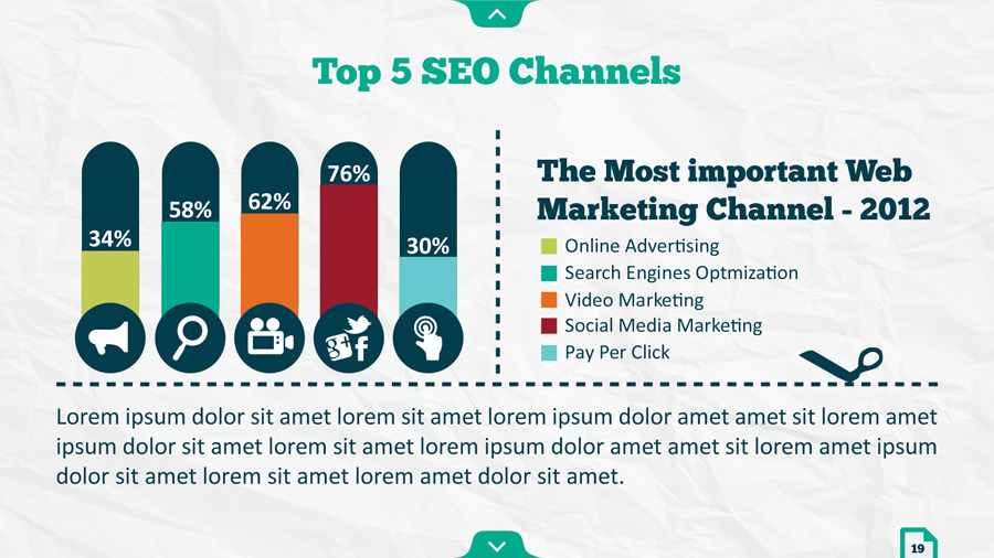 Infographic SEO Keynote Template by kh2838 GraphicRiver - pay template