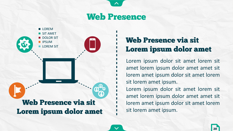 Infographic SEO Keynote Template by kh2838 GraphicRiver - phone message template