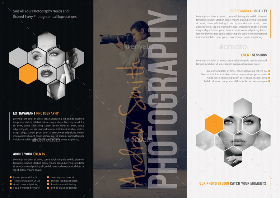 Photography Studio 3-Fold Brochure by rapidgraf GraphicRiver - studio brochure