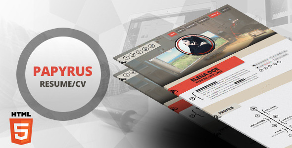 Papyrus - Responsive Resume Template by LeAmino ThemeForest - template resumes