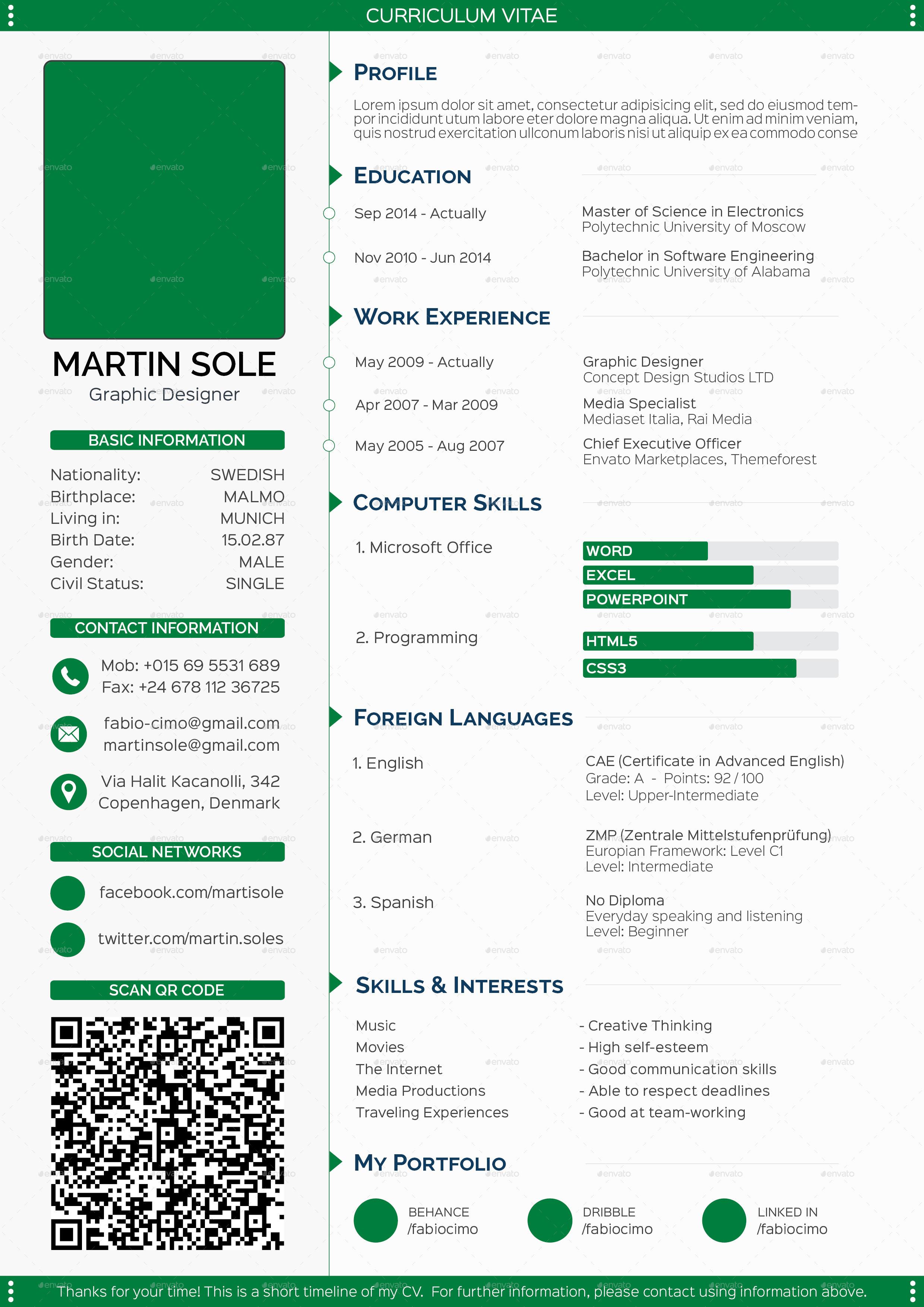 skills based cv template