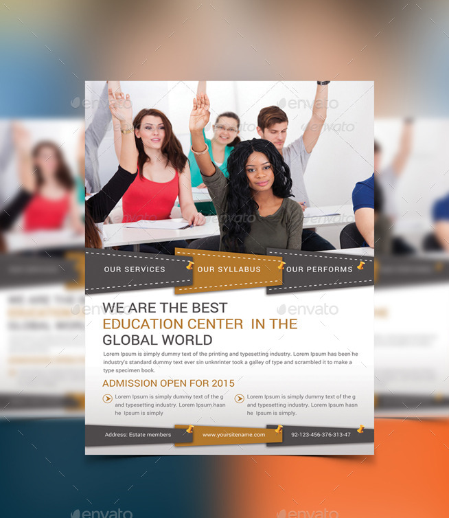 High School Education Flyer Template by afjamaal GraphicRiver