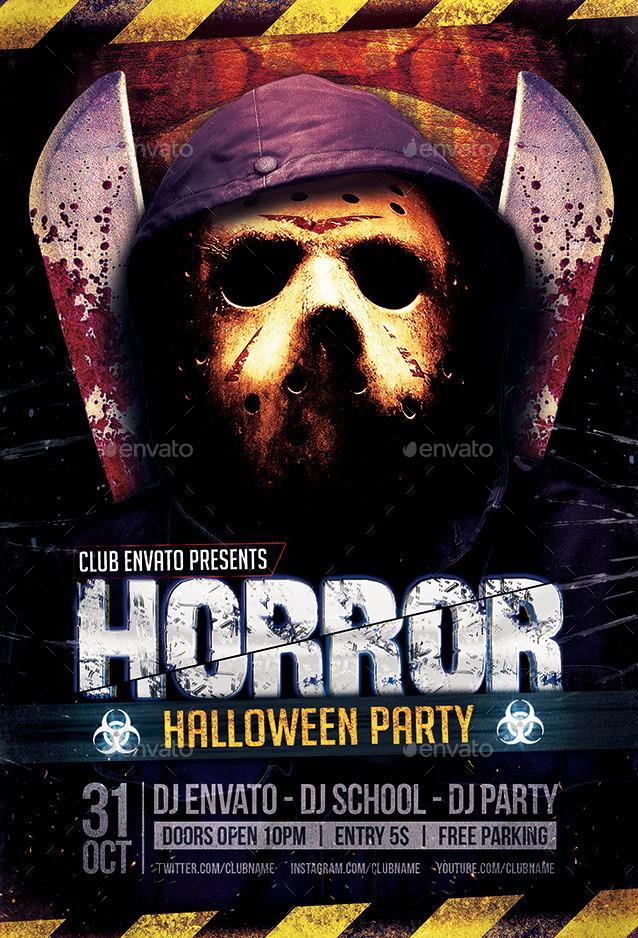 Horror  Biohazard Halloween Party Flyers by Zular GraphicRiver