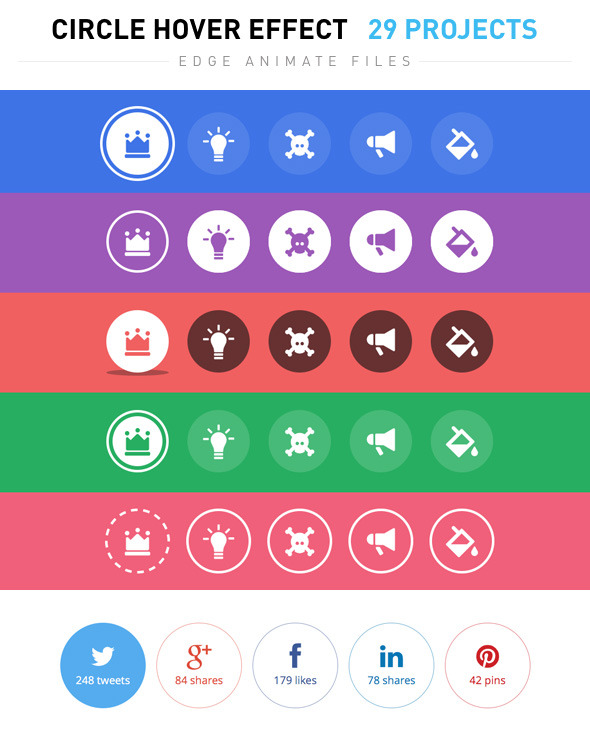 Circle Hover Effects by cesgra CodeCanyon