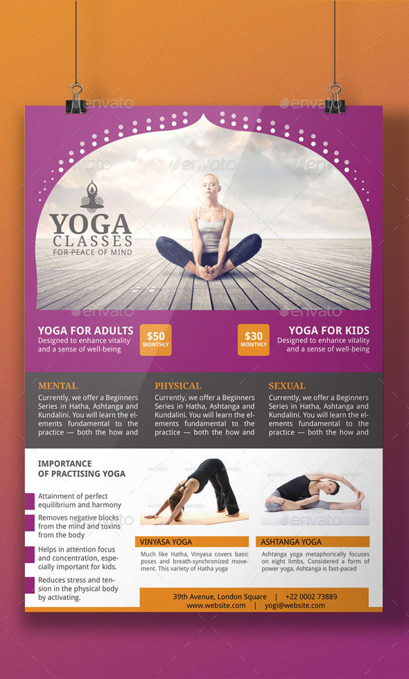 Yoga Flyer Template by BloganKids GraphicRiver
