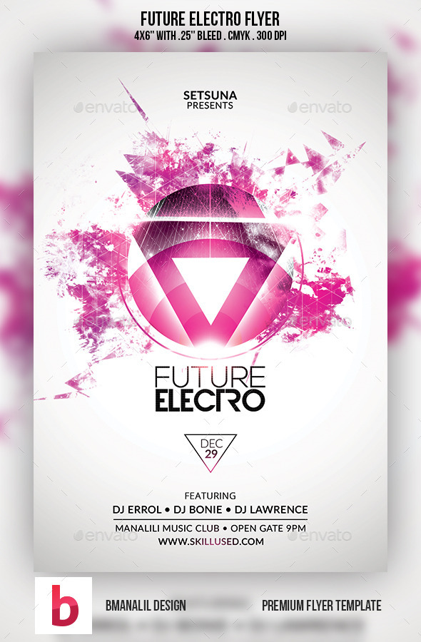 Future Electro Flyer by bmanalil GraphicRiver - electro flyer