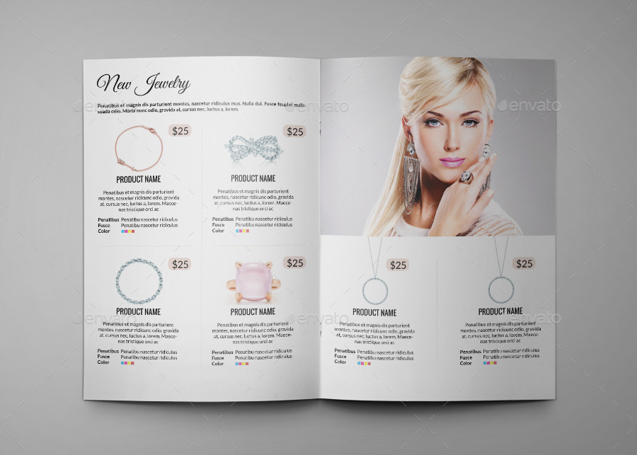 Jewelry A4 InDesign Catalog Template HP0011 by annozio GraphicRiver