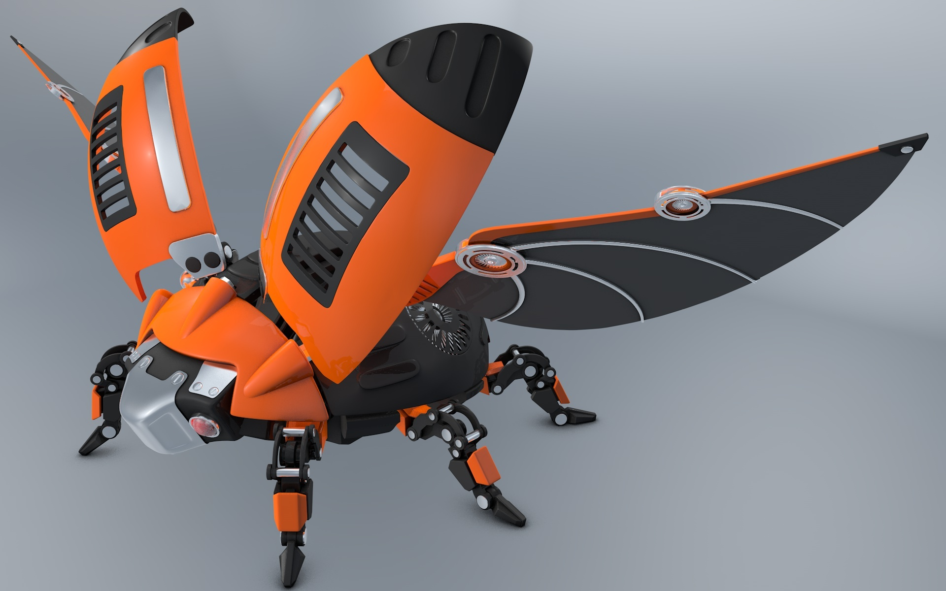 Wallpaper Robot 3d Hd Beetle Ladybug Robot By Vladim00719 3docean