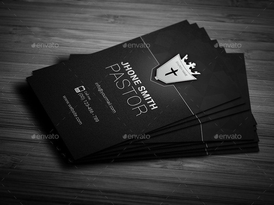 Creative Church Business Card by Awns GraphicRiver