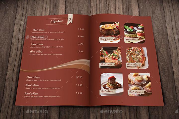 Elegant Food Menu Restaurant by IDsains GraphicRiver