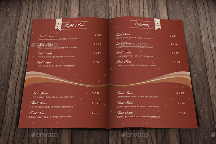 Elegant Food Menu Restaurant by IDsains GraphicRiver