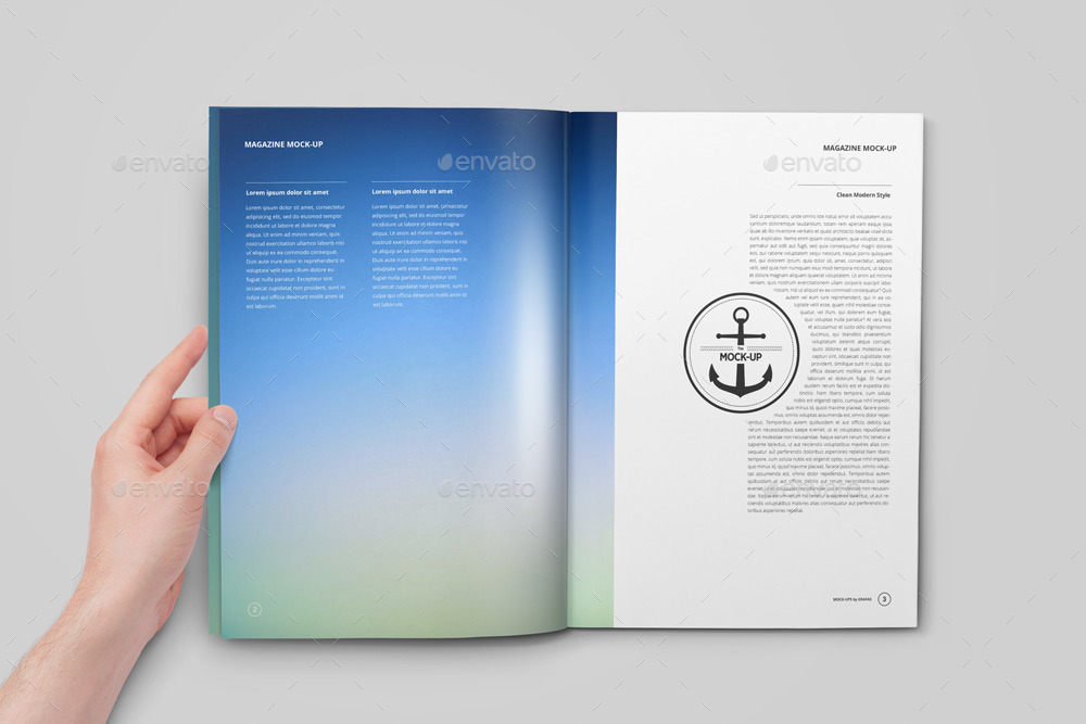 Magazine / Catalog / Booklet Mock-Up by GrafAS GraphicRiver - free booklet template