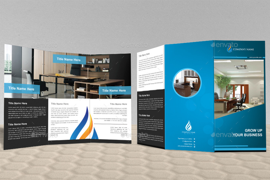 Mockup T Shirt Side Unique Office Tri Fold Brochure Design By
