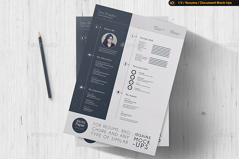 CV / Resume Mock-Up by IDsains GraphicRiver