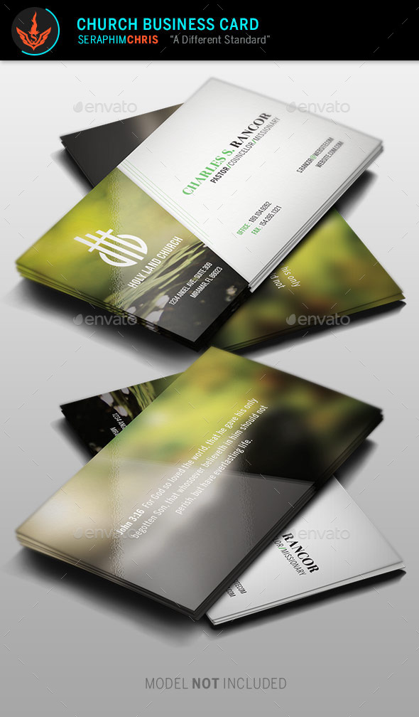 Church Business Card Template by SeraphimChris GraphicRiver