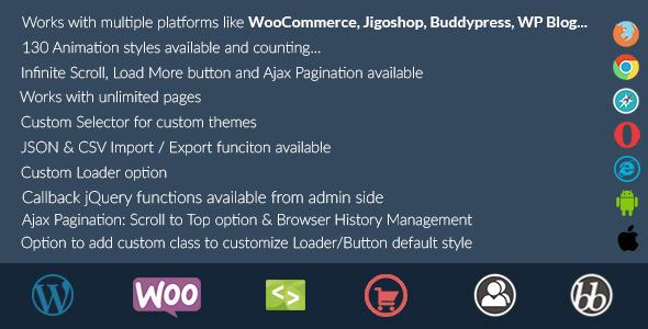 Animated Infinite Scroll - WordPress Plugin by sbthemes CodeCanyon