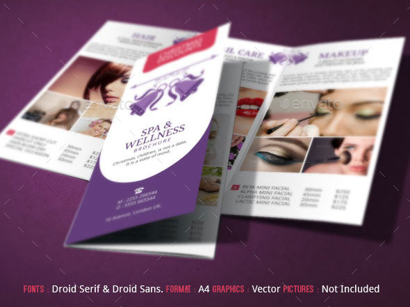 Spa Brochure Template Christmas Deals by BloganKids GraphicRiver - spa brochure
