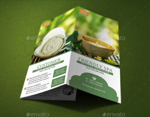 Spa Resort Brochure Template by BloganKids GraphicRiver - spa brochure