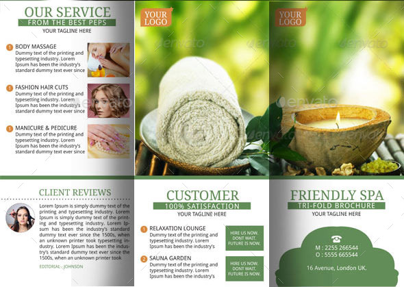 Spa Resort Brochure Template by BloganKids GraphicRiver