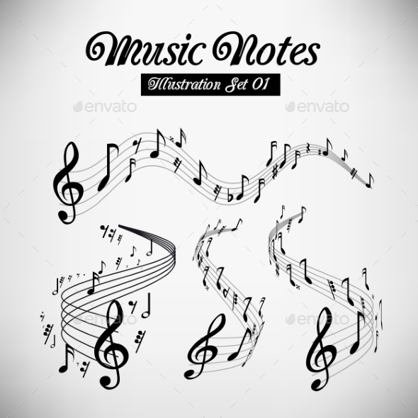 Musical Staves by sermax55 GraphicRiver