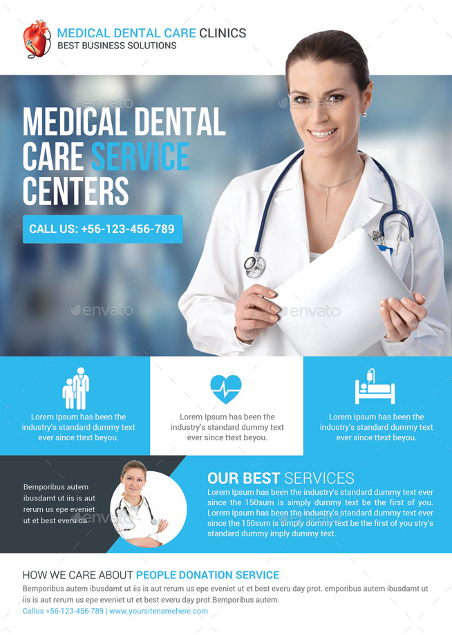 Health  Medical Doctors Flyer Template by GraphicForestNet