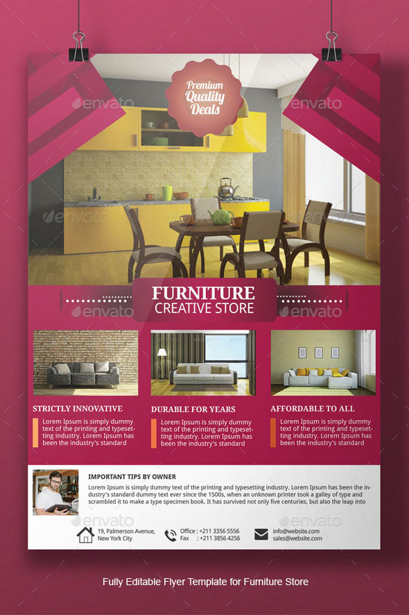Furniture Flyer Template by Adburst GraphicRiver - home sale flyer template