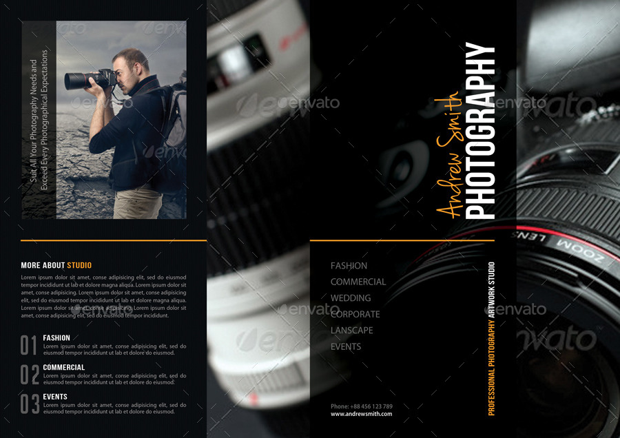 Photography Studio 3-Fold Brochure 02 by rapidgraf GraphicRiver - studio brochure