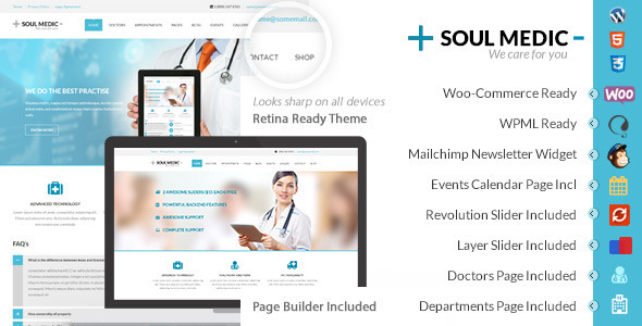 SoulMedic Health Medical  Health Care Theme by designthemes