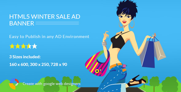 Winter Sale - HTML5 Ad Template by 0effortthemes CodeCanyon