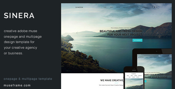 Sinera - Creative Muse Template by Pixasquare ThemeForest