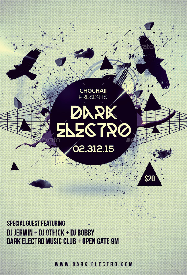 Dark Electro Flyer by Indescribable GraphicRiver