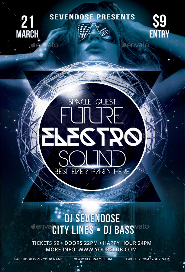 Electro Flyer Free No Edm Festival Flyer Template Download The - electro flyer