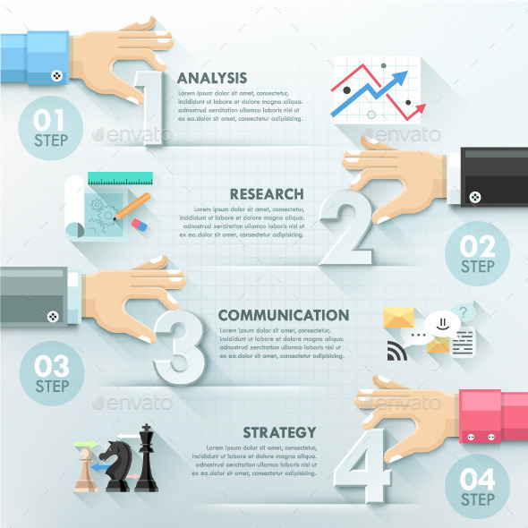 Business Hands Teamwork Infographics Template by Andrew_Kras