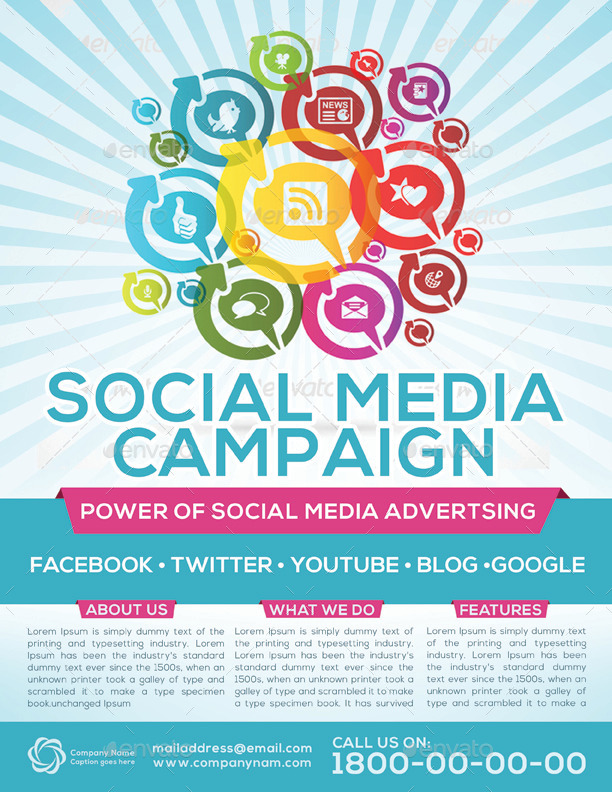 Social Media Campaign Flyer Template by graphicshint GraphicRiver - campaign flyer template