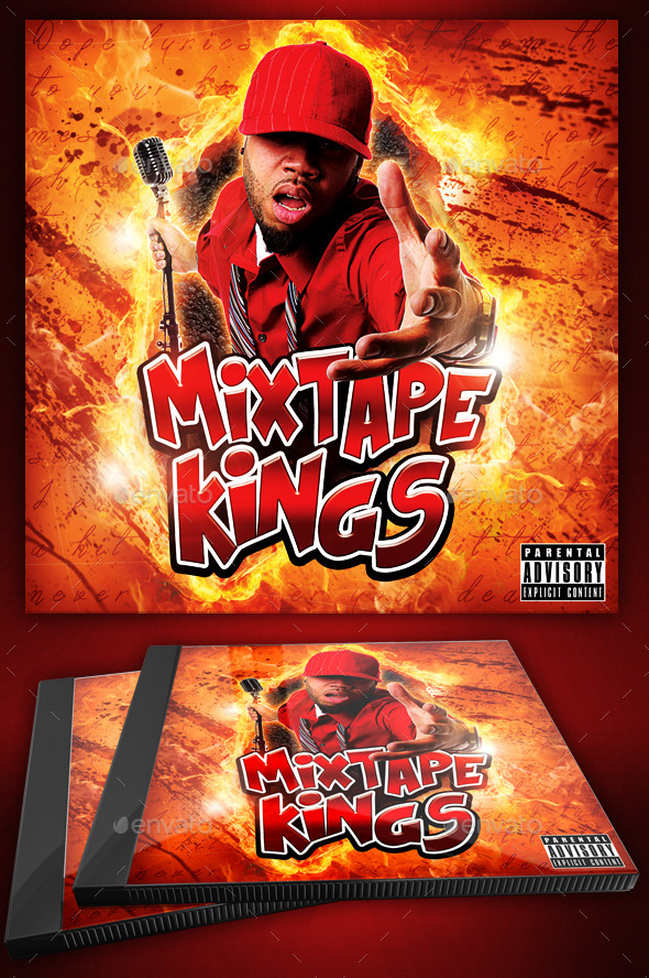 Hip Hop Flyer or CD Template - Mixtape Kings by Yellow_Emperor